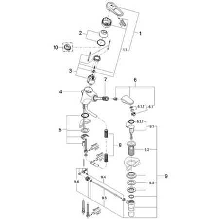 Grohe 33171 Europlus Ii Replacement Parts
