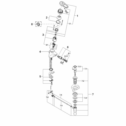 Grohe 33241 Europlus Ii Replacement Parts