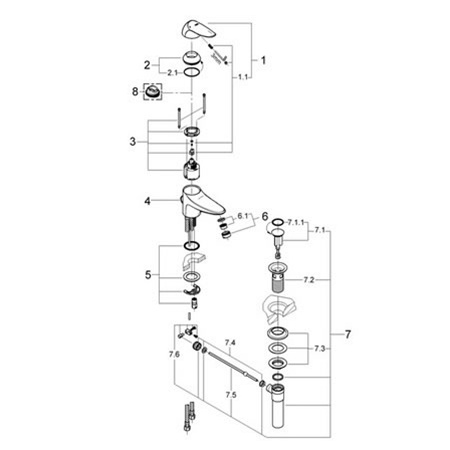Grohe 33413 Eurodisc Ii Replacement Parts