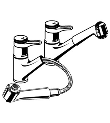Grohe Europlus - 33 853 Pull Out Spray Faucet Parts
