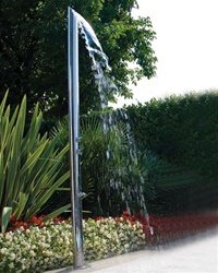 Jaclo 1800 Aqua Adagio Multifunction Outdoor Shower Column with Bottom Water Inlet