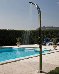 Jaclo 1900 Arc Column Allegro Multifunction Outdoor Shower Column with Bottom Water Inlet