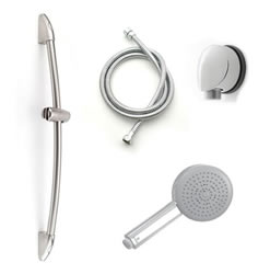 Jaclo 522-464-401 Dynamica II Hand Shower and Wall Bar Kit - With Supply Elbow