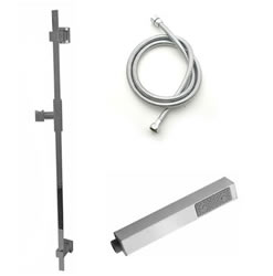 Jaclo 873-470 CUBIX Hand Shower and Wall Bar Kit with Round Hose - No Supply Elbow
