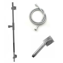 Jaclo 873-476 CUBICA Hand Shower and Wall Bar Kit with Round Hose - No Supply Elbow