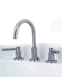 Jaclo 8880-L Contempo Widespread Lavatory Faucet with Lever Handles and Pop-Up Drain for Concealed Applications