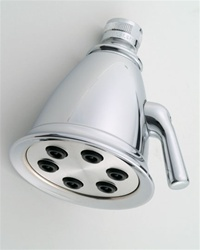 "Jaclo B738 Retro #2 Shower Head with 3"" Face and 6"" Spray Jets"