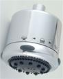 Jaclo S138 Frescia Multifunction Shower Head with Dark Grey Face and Nebulizing MIST