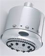 Jaclo S139 Frescia Multifunction Shower Head with Light Grey Face and Nebulizing MIST
