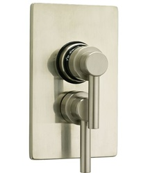 Jaclo T6532 Contempo Lever Dual 1/2-inch Thermostatic and Volume Control Valve with Trim Kit