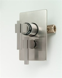 Jaclo T6570 Cubix Dual 1/2-inch Thermostatic and Volume Control Valve With Trim