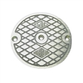 "Jay R. Smith 4020C03NB Nickel Bronze Grate 4 3/16"" Outside Measurement."
