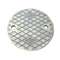 "Jay R. Smith 4890CVR03PB Polished Brass Grate 4 3/8"" Outside Measurement."