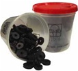 This Kissler Flat Bibb Bulk Washer Kit Comes in a Bag of 100. The washer kits are available in several sizes ranging from Double OO to over 3/4 inch