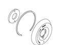 Kohler 1006784CP - Polished Chrome Escutcheon Assembly