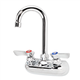 Krowne 10-400L - Low Lead Commercial 4-inch Center Hand Sink Faucet with Gooseneck Spout