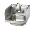 Krowne HS-26L - 16-inch Hand Sink with Side Splashes, Low Lead Compliant