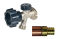 "Mansfield 492-04 by Prier 400 Series Wall Hydrant 492 Series - ¾"" Crimp PEX"