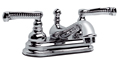 Meridian 2022000 - Centerset Lavatory Faucet Lever Handles (Solid Brass Construction) - Polished Chrome