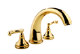 Meridian 2025073 - Roman Tub Faucet Lever Handles (Solid Brass Construction) - 18K Gold