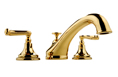 Meridian 2026030 - Roman Tub Faucet Lever Handles (Solid Brass Construction) - 18K Gold
