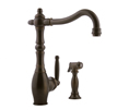 Meridian 2058080 - Single Lever Kitchen Faucet with Spray (Solid Brass Construction) - Antique Bronze