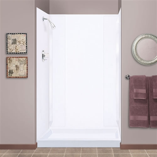 Mustee 265WHT Durawall Shower Wall White Fits Up To 40x69 Alcove