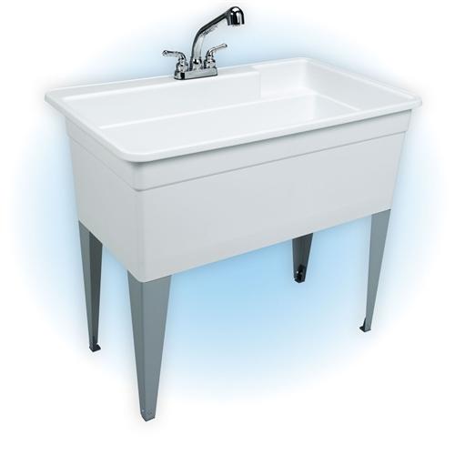 Mustee 28cf Bigtub Utilatub Combo Tub Faucet Supply Lines