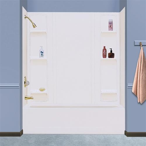 Mustee 56 DURAWALL® Whirlpool Sized Bathtub Wall