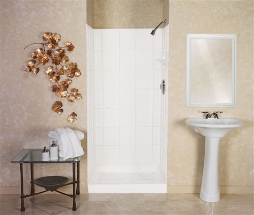 Mustee 572t Varistone Fiberglass Shower Walls