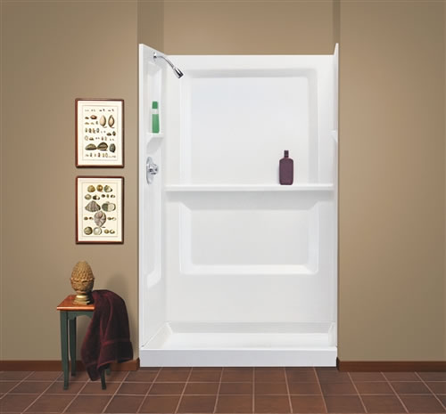 Mustee 748 32 Durawall 174 Fiberglass Shower Wall