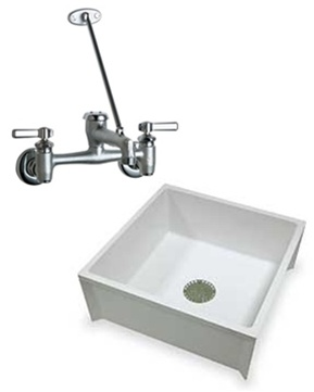 Try This Service Sink Combo Deal Package Including The Chicago Faucets  897 RCF Service Faucet