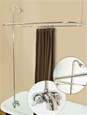 Spring House - R2200 - Front Mounted 'Tub-On-Legs' Faucet with Overhead Shower and Curtain Rings