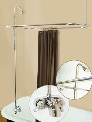 Add Shower To Clawfoot Tub.  Spring House R2200