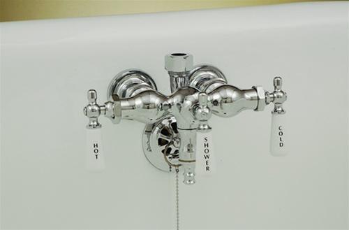 Clawfoot Tub Shower Riser.Strom Plumbing Chrome 3 3 8 Ctr Leg Tub Faucet W Diverter For Shower Riser Or Handheld Shower Set