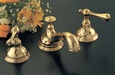 Strom Plumbing - P0346S St. Lawrence Supercoat Polished Brass Widespread Lavatory Faucet with Lever Handles and Pop-Up Drain
