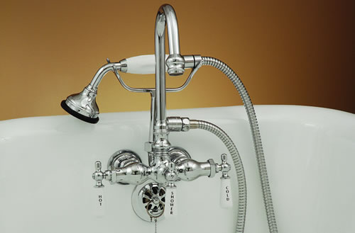 Strom Plumbing P0402 Gooseneck Clawfoot Tub Faucet