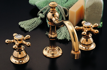 Strom Plumbing P0588s Rio Grande Polished Brass Widespread