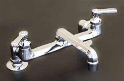 Strom Plumbing P1046 Deck Mount Bridge Style Kitchen Faucet