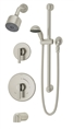 Symmons 3506-H321-V-CYL-B-STN Dia Tub/Shower Hand Shower