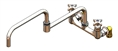 T&S Brass - B-0292 - Big-Flo Mixing Faucet, Wall Mount, 8-inch Centers, 24-inch Double Joint Swing Nozzle, LL Inlets