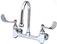 T&S Brass - B-0352-04 - Medical Faucet, Wall Mount, 8-inch Centers, Rigid Gooseneck w/Rosespray, Built-In Stops