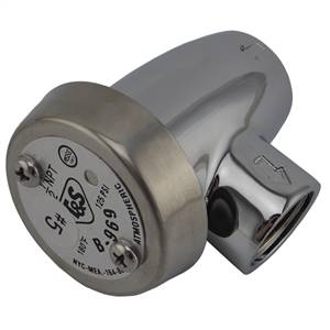 T&S Brass - B-0969 - Vacuum Breaker, 1/2-inch NPT Inlet and Outlet, Atmospheric, Polished Chrome Finish