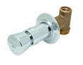T&S Brass - B-1029 - Concealed Straight Valve, Slow Self Closing, Vandal Resistant, Blank Index
