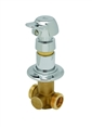 T&S Brass - B-1029-PA - Concealed Straightway Valve, Slow Self-Closing, Pivot Action Metering