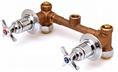 T&S Brass - B-1035 - Concealed Bypass Mixing Valve, 8-inch Centers, 1/2-inch NPT Female Inlets & Outlets, 4-Arm Handles