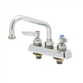T&S Brass - B-1101-M - Workboard Faucet, Deck Mount, 3-1/2-inch Centers, 8-inch Swing Nozzle, Lever Handles (Qty. 6)