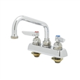 T&S Brass - B-1110 - Workboard Faucet, Deck Mount, 4-inch Centers, 6-inch Swing Nozzle, Lever Handles