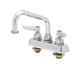 T&S Brass - B-1111 - Workboard Faucet, Deck Mount, 4-inch Centers, 8-inch Swing Nozzle, Lever Handles