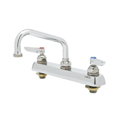 T&S Brass - B-1120 - Workboard Faucet, Deck Mount, 8-inch Centers, 6-inch Swing Nozzle, Lever Handles
